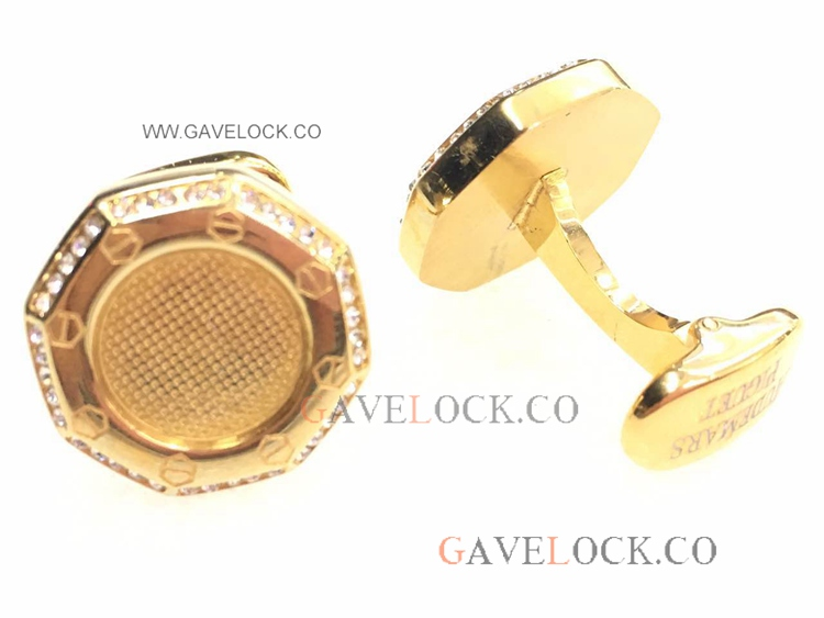 Best Audemars Piguet Replica Cufflinks Gold With Diamond
